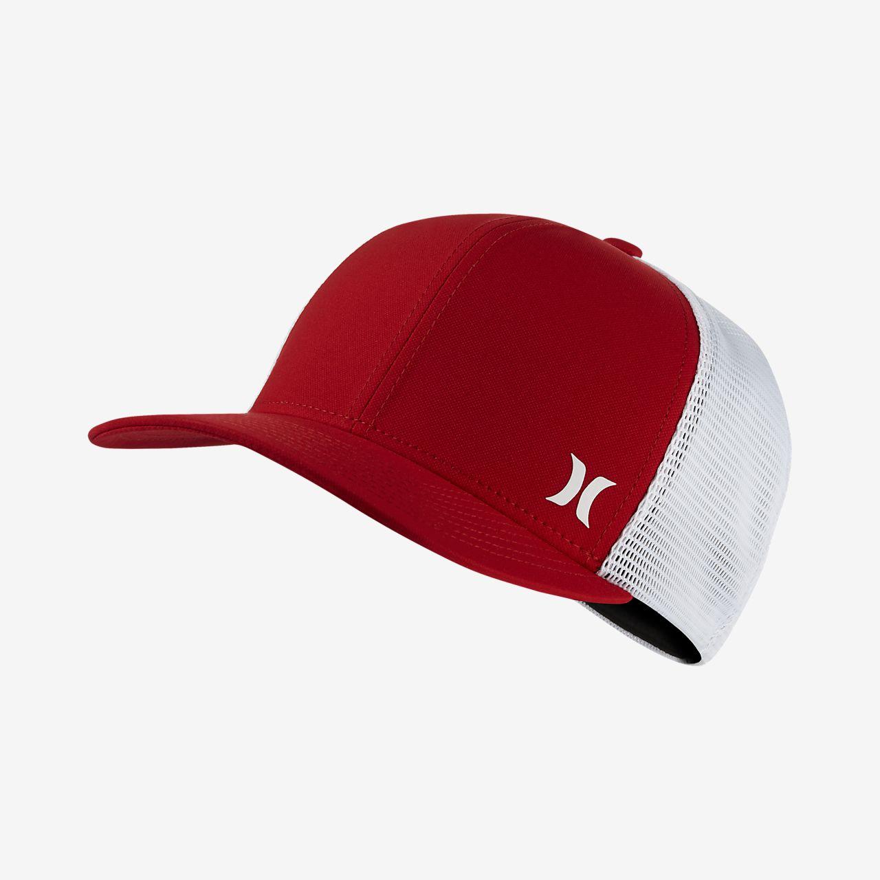 online retailer 158e7 7f188 new zealand hurley blocked trucker hat red white f5e14 80658  uk hurley  milner trucker unisex adjustable hat a2a34 d42db