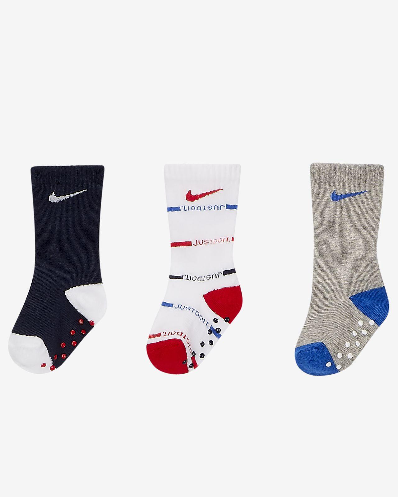 Nike Gripper Baby Crew Socks (3 Pairs)