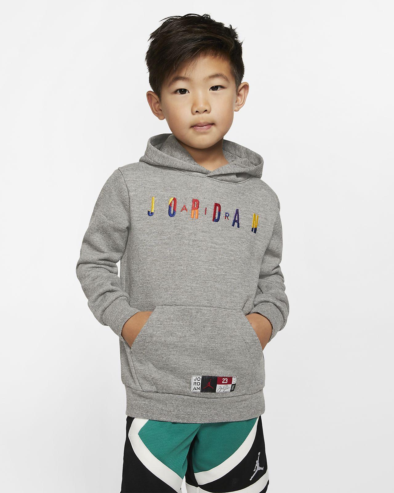 Air Jordan-pullover-hættetrøje i fleece til små børn