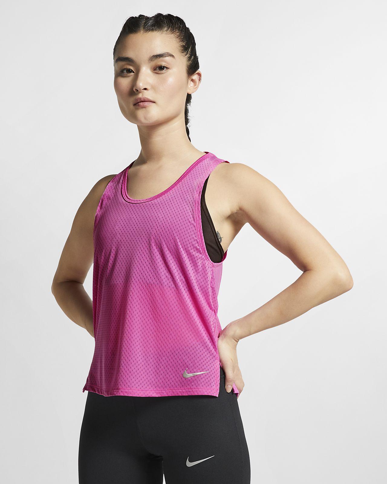 Nike Breathe Miler Samarreta de tirants de running - Dona