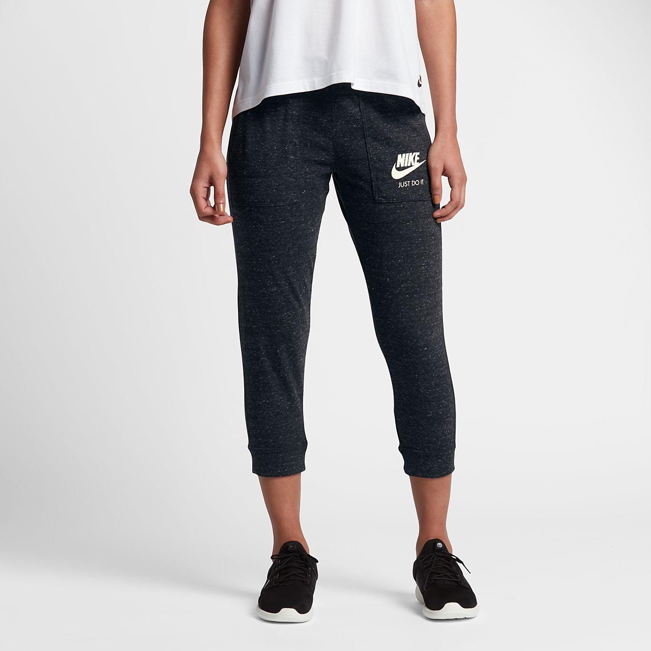 Nike Sportswear Gym Vintage Women's Logo Capris Black/Sail