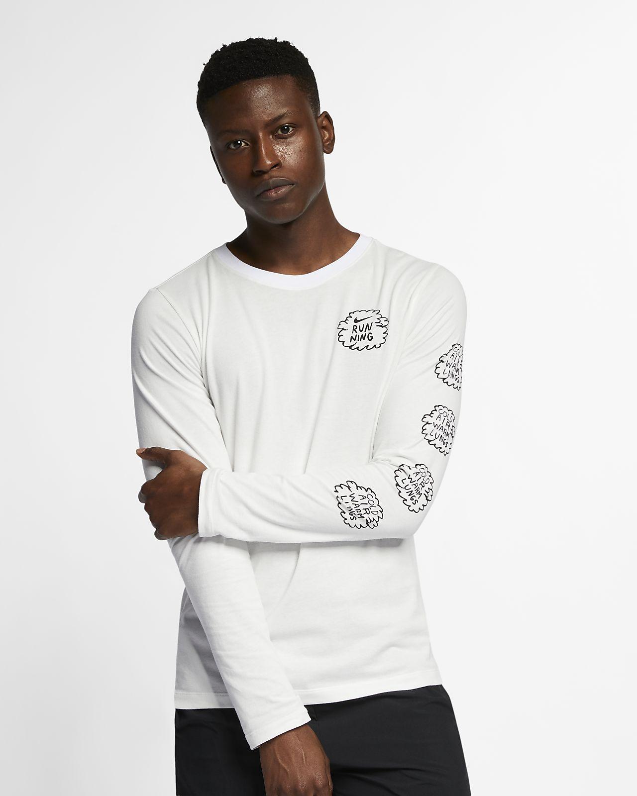 Pánské běžecké tričko Nike Dri-FIT Nathan Bell s dlouhým rukávem