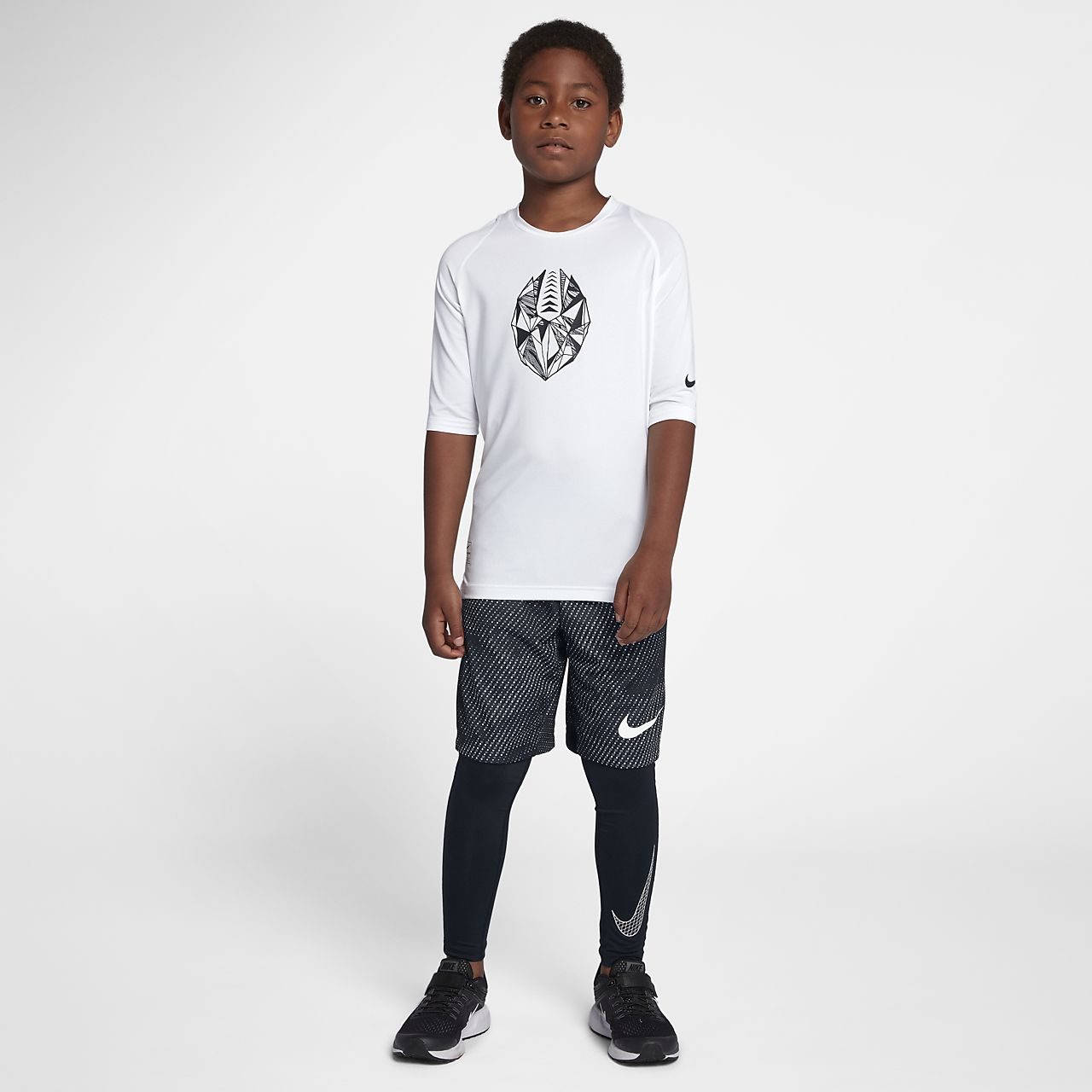 7cba5b79 Nike Pro Big Kids' (Boys') Fitted Half Sleeve Soccer Top. Nike.com