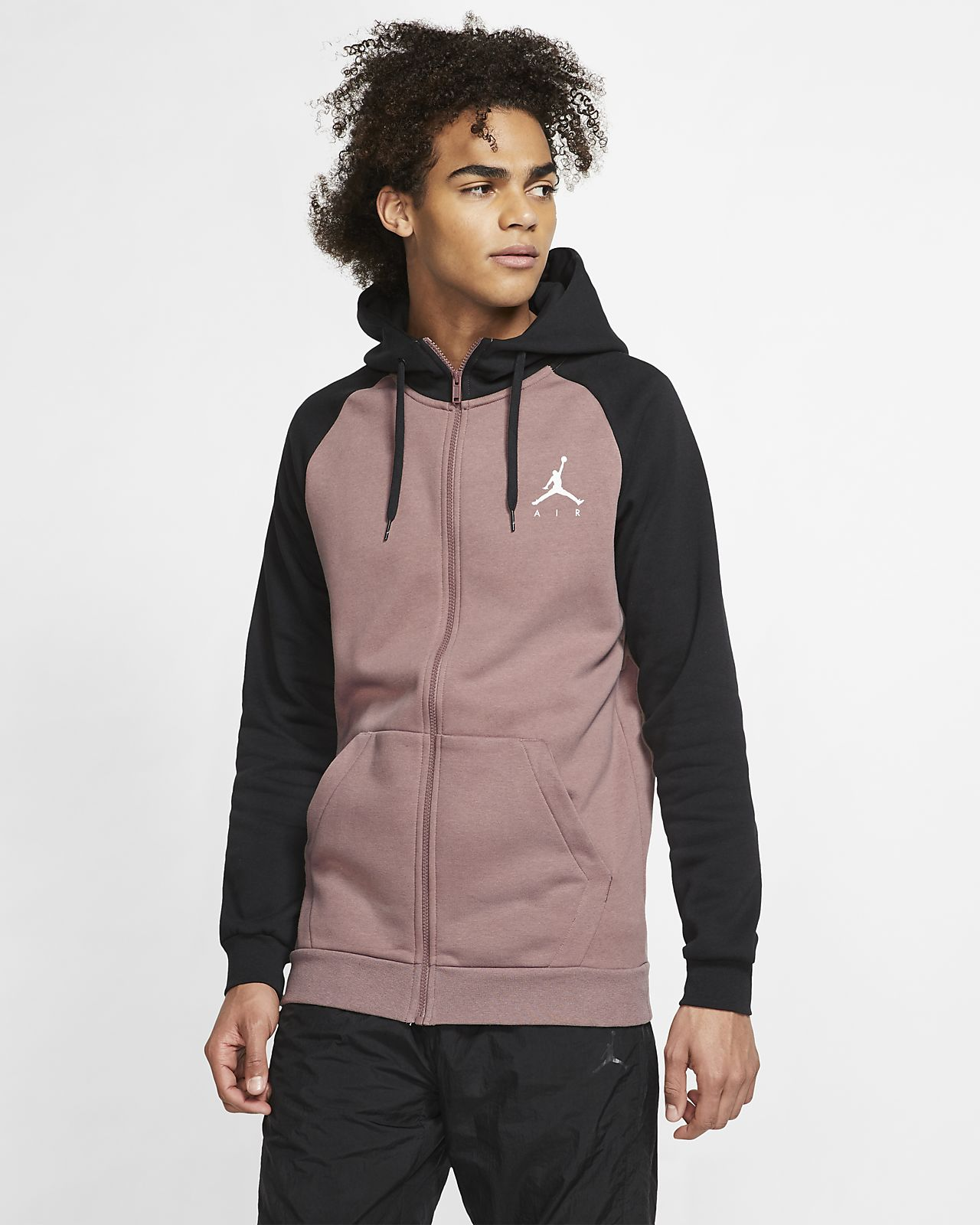 bcaff38eb12 Jordan Jumpman Men's Fleece Full-Zip Hoodie. Nike.com