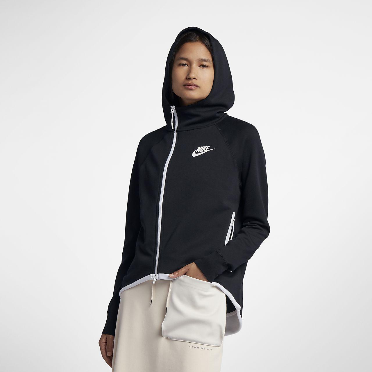 Женский кейп с молнией во всю длину Nike Sportswear Tech Fleece