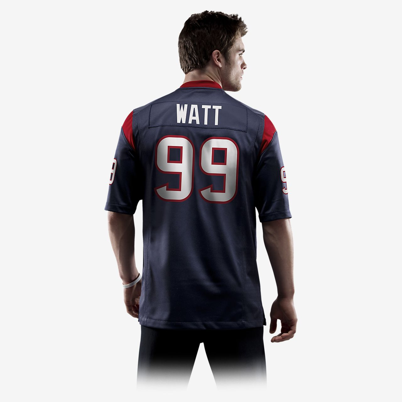 22a96927a8c ... NFL Houston Texans (J.J. Watt) Men s American Football Home Game Jersey