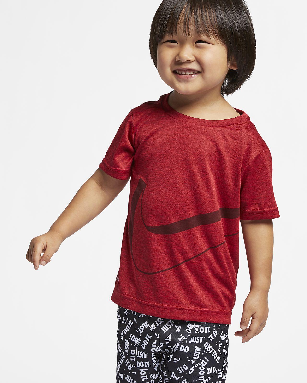 T-shirt dla małych dzieci Nike Breathe