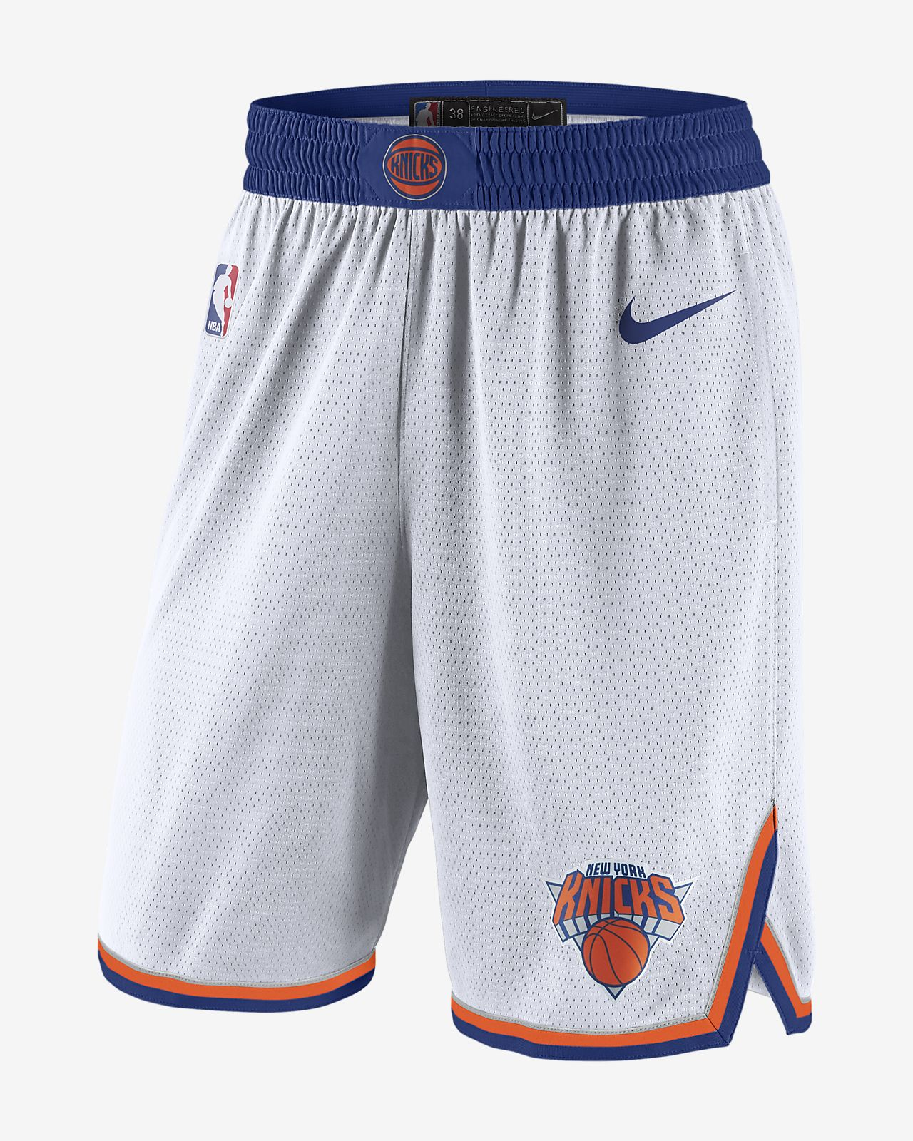 New York Knicks Association Edition Swingman Men's Nike NBA Shorts