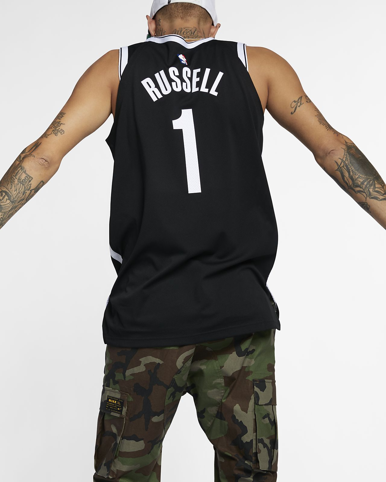 e7a1c4e32 ... D Angelo Russell Icon Edition Authentic (Brooklyn Nets) Men s Nike NBA  Connected Jersey