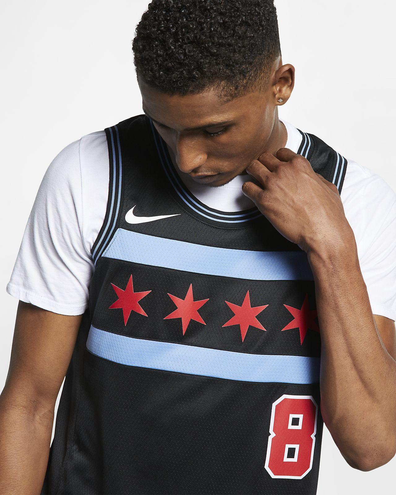 6da3d40b350 ... Zach LaVine City Edition Swingman (Chicago Bulls) Men s Nike NBA  Connected Jersey