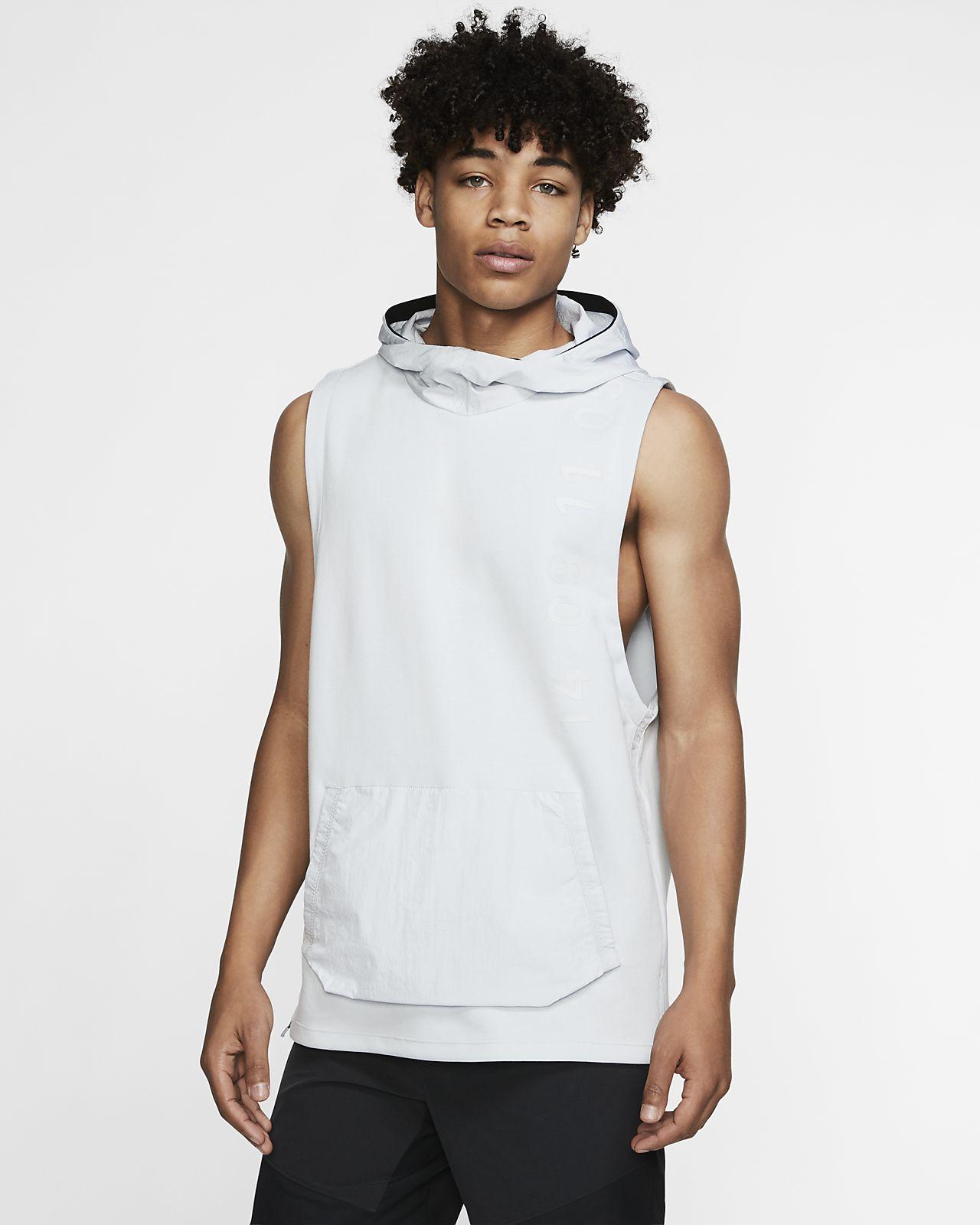 Nike 男子连帽无袖训练上衣