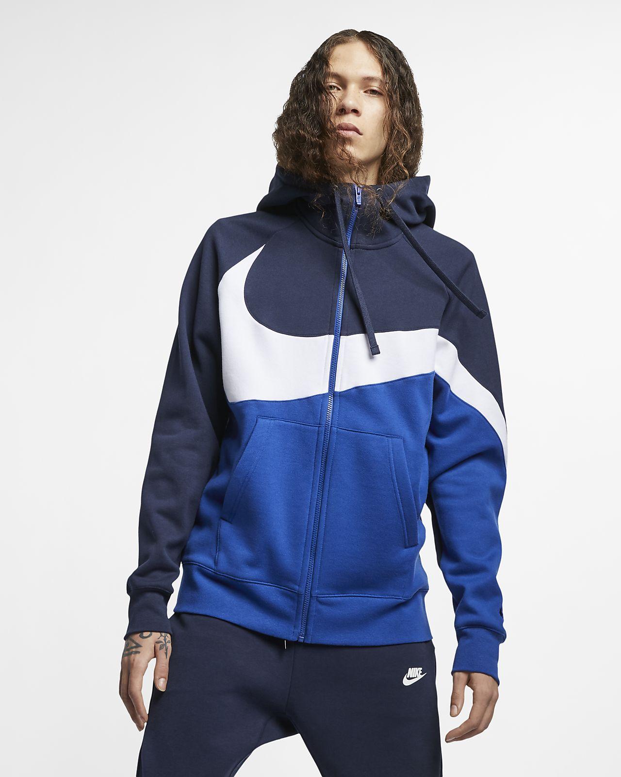 apariencia elegante llega diseñador nuevo y usado Sudadera con capucha de cierre completo para hombre Nike Sportswear