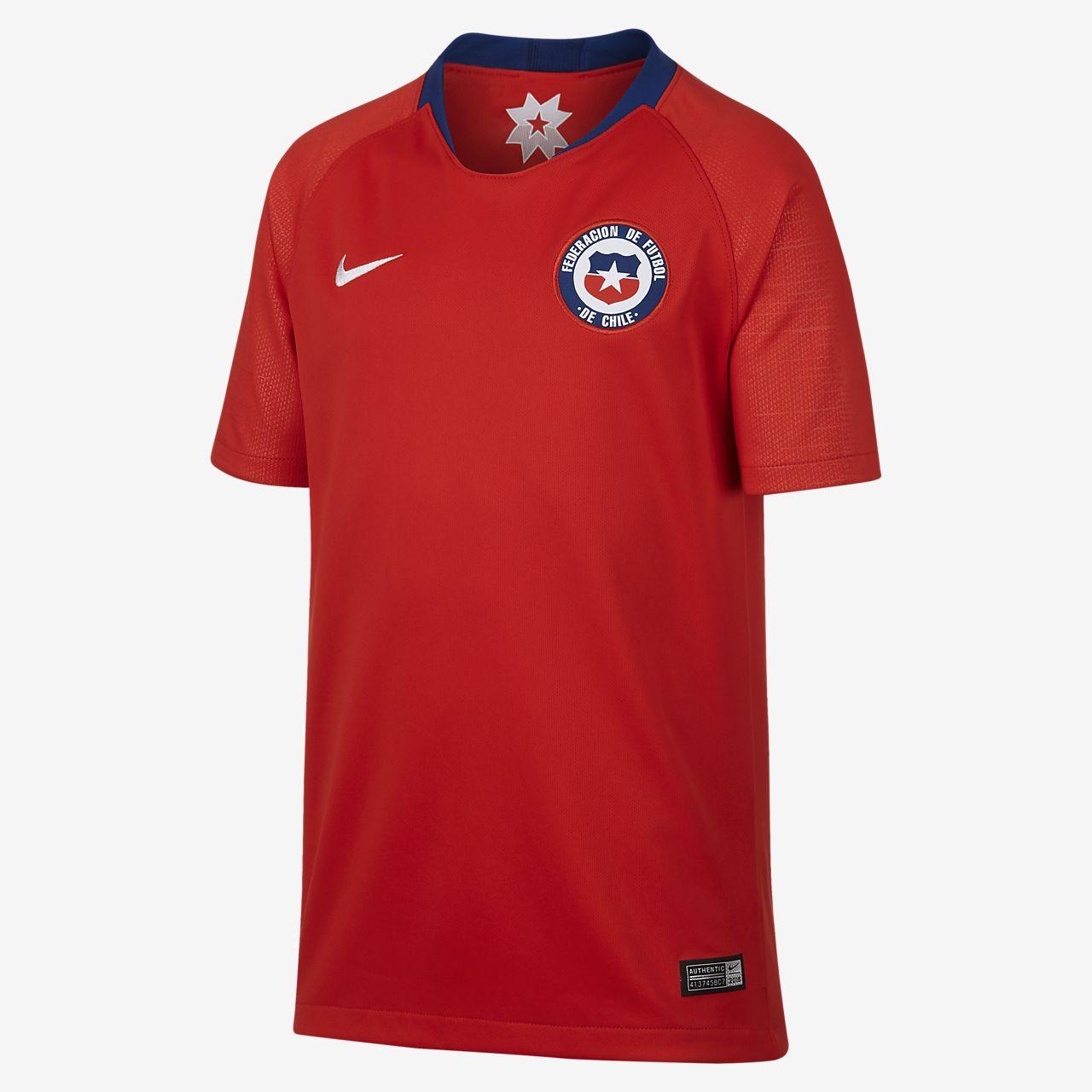 Camiseta de fútbol para niño talla grande 2018 Chile Stadium Home