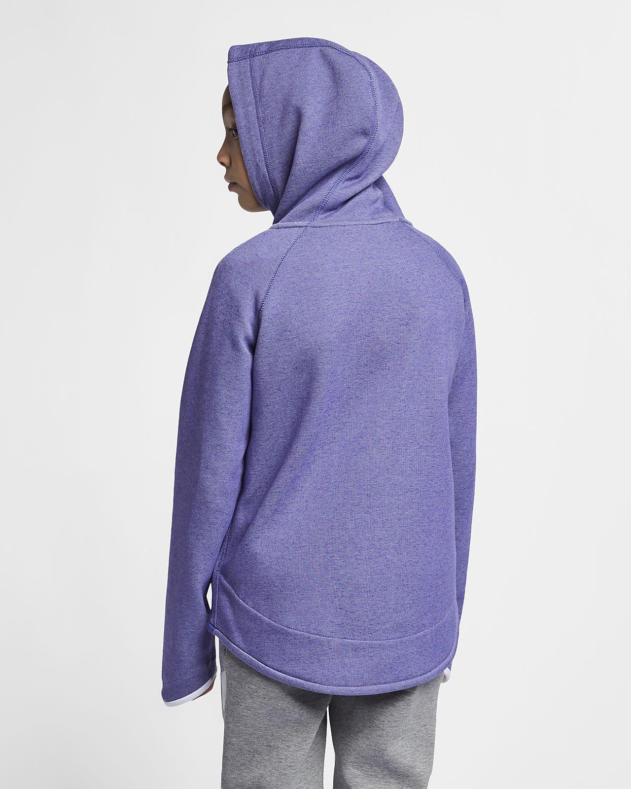 68a715f1d4 ... Nike Sportswear Tech Fleece hosszú cipzáras, kapucnis pulóver nagyobb  gyerekeknek (lányok)