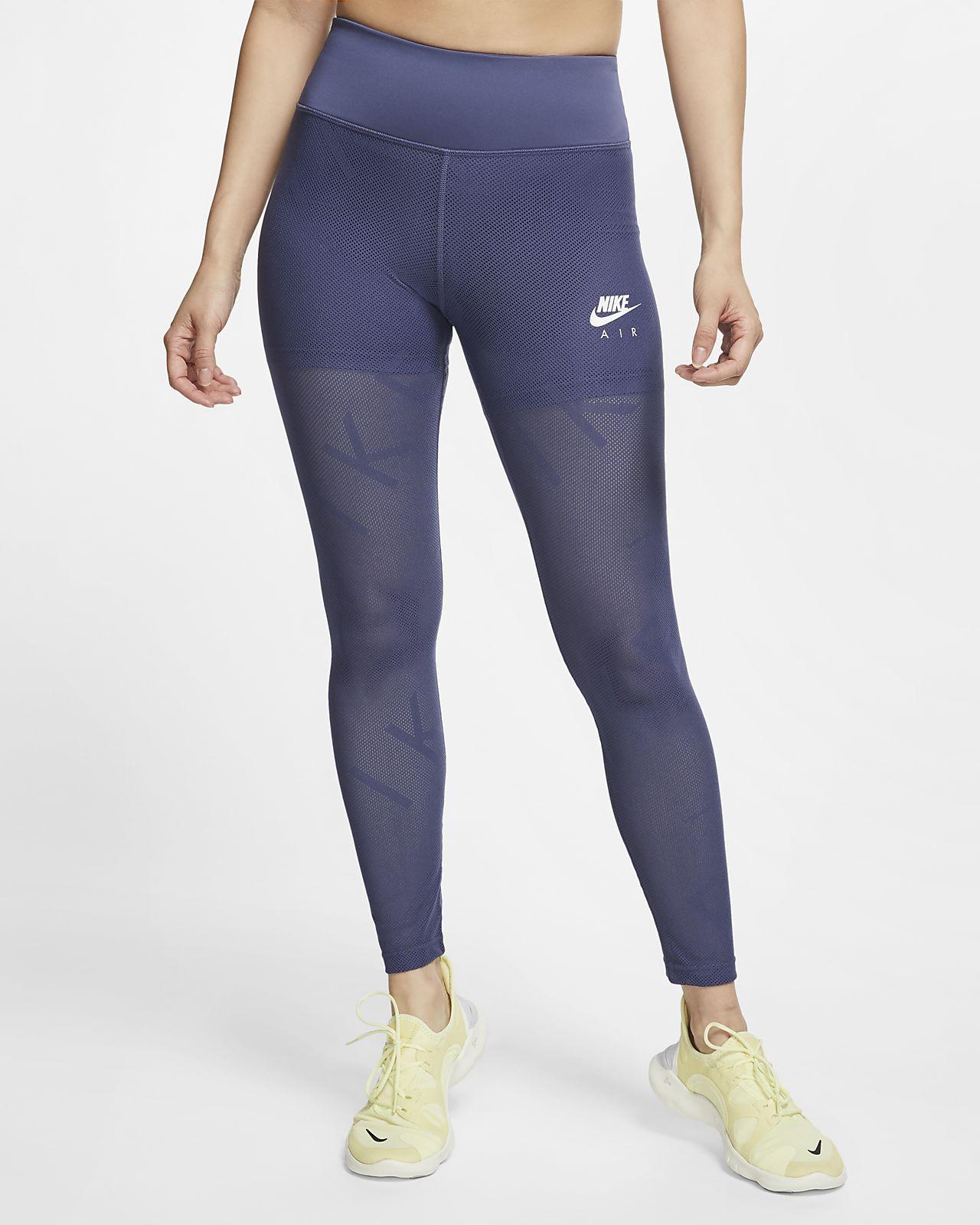 Nike Air nettingløpetights i 7/8-lengde til dame