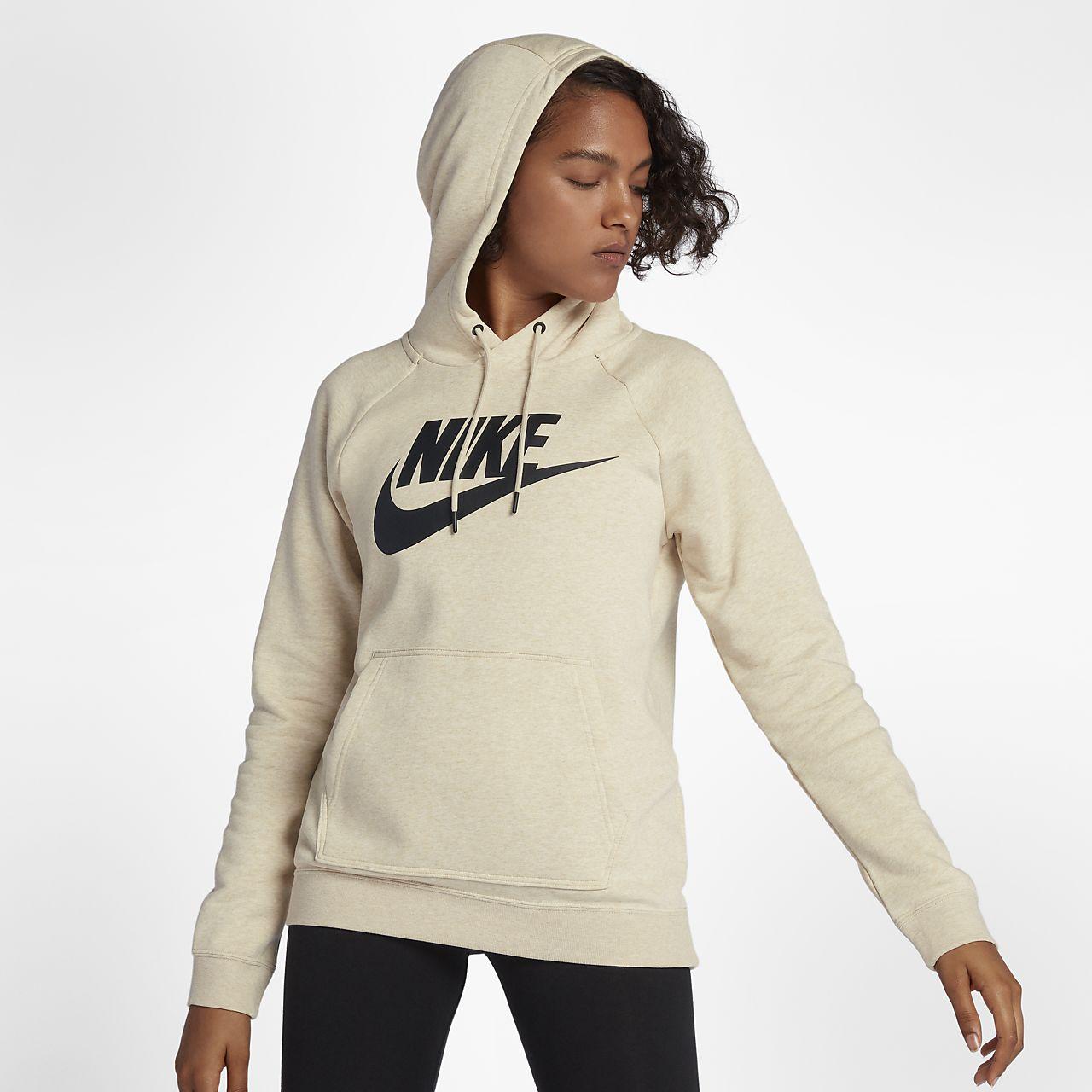 Felpe con cappuccio Nike | Rally Crop Hoodie Ladies Grigio Donna | Suffragio Recco