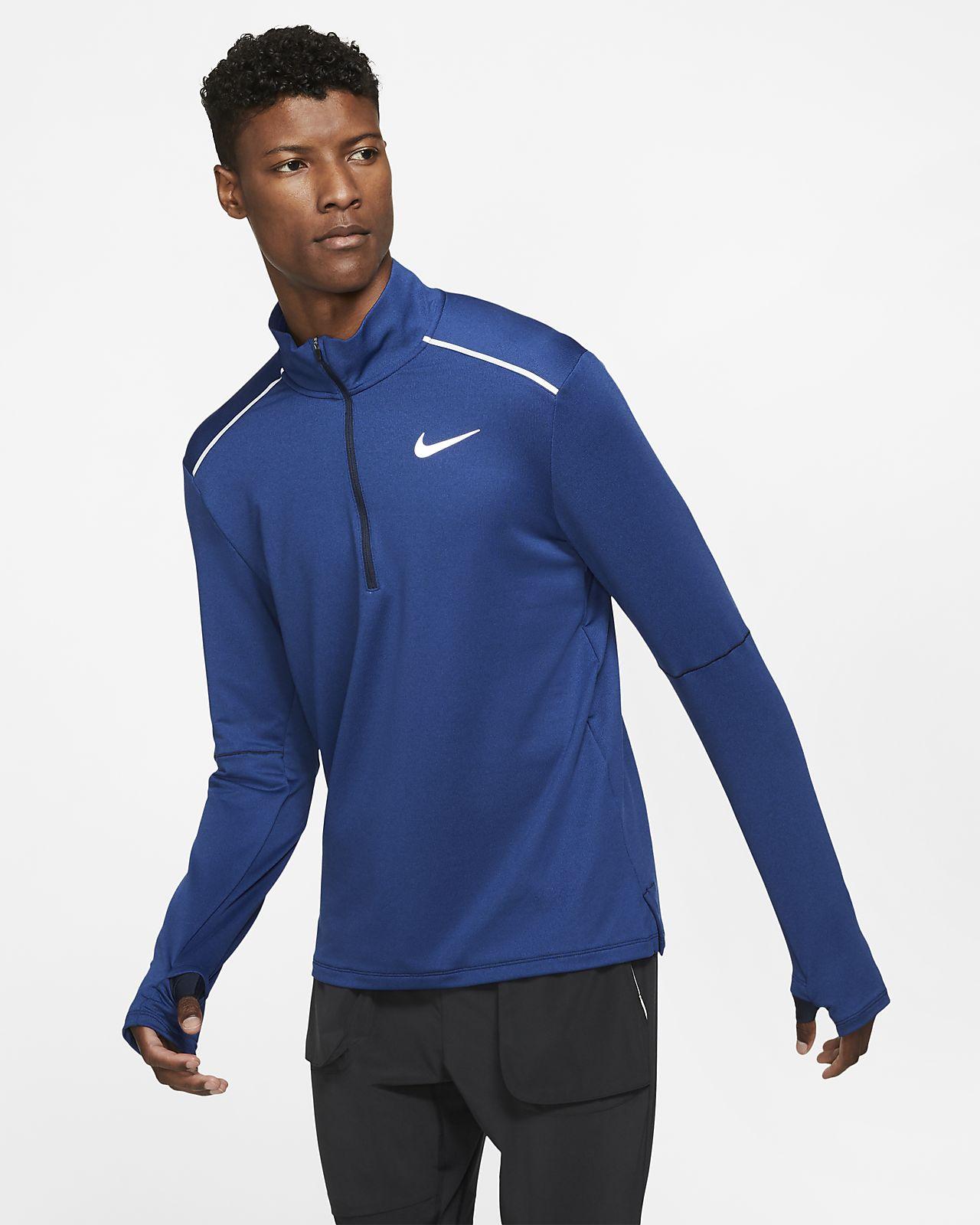 Męska koszulka do biegania z zamkiem 1/2 Nike 3.0