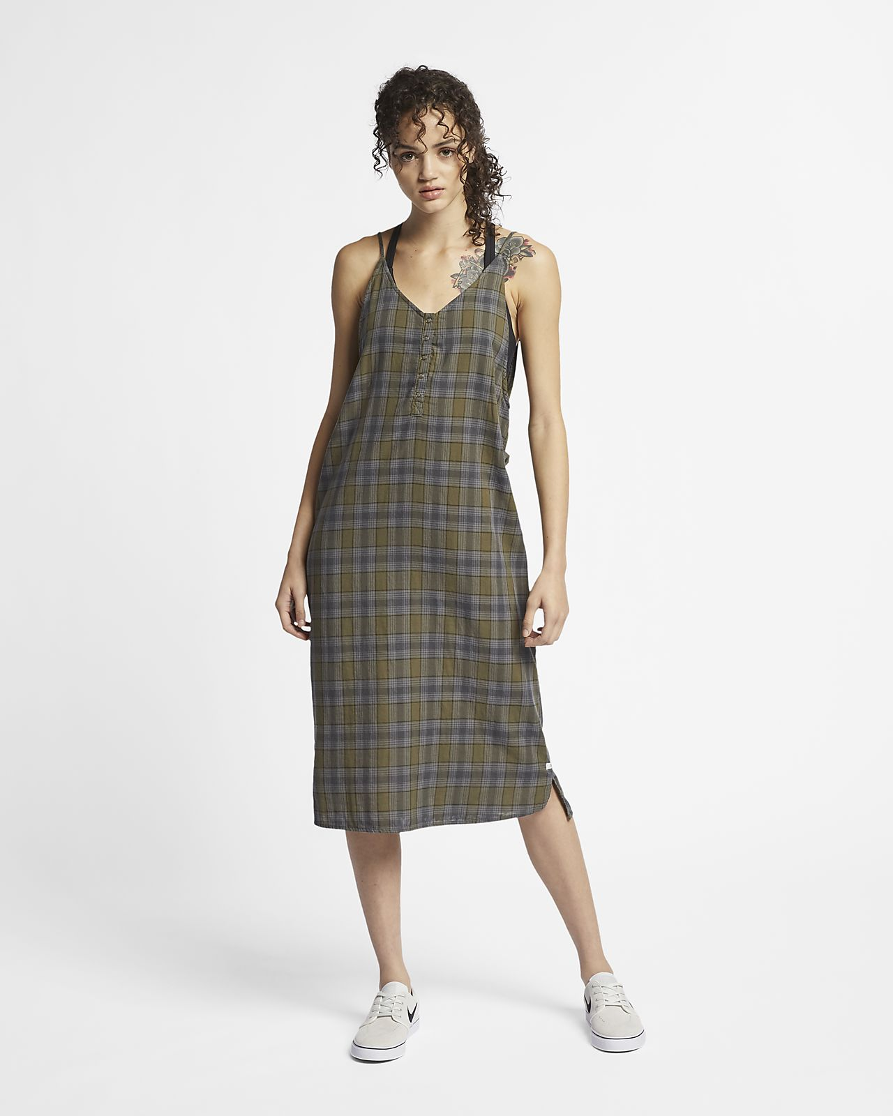 Hurley Tank Women's Check Maxi Dress