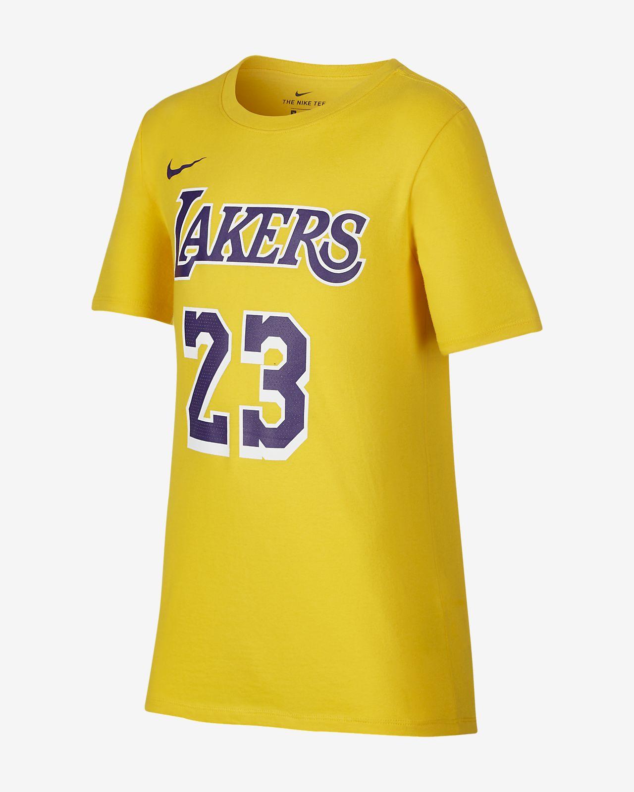 T-shirt NBA dla dużych dzieci Los Angeles Lakers Nike Dri-FIT