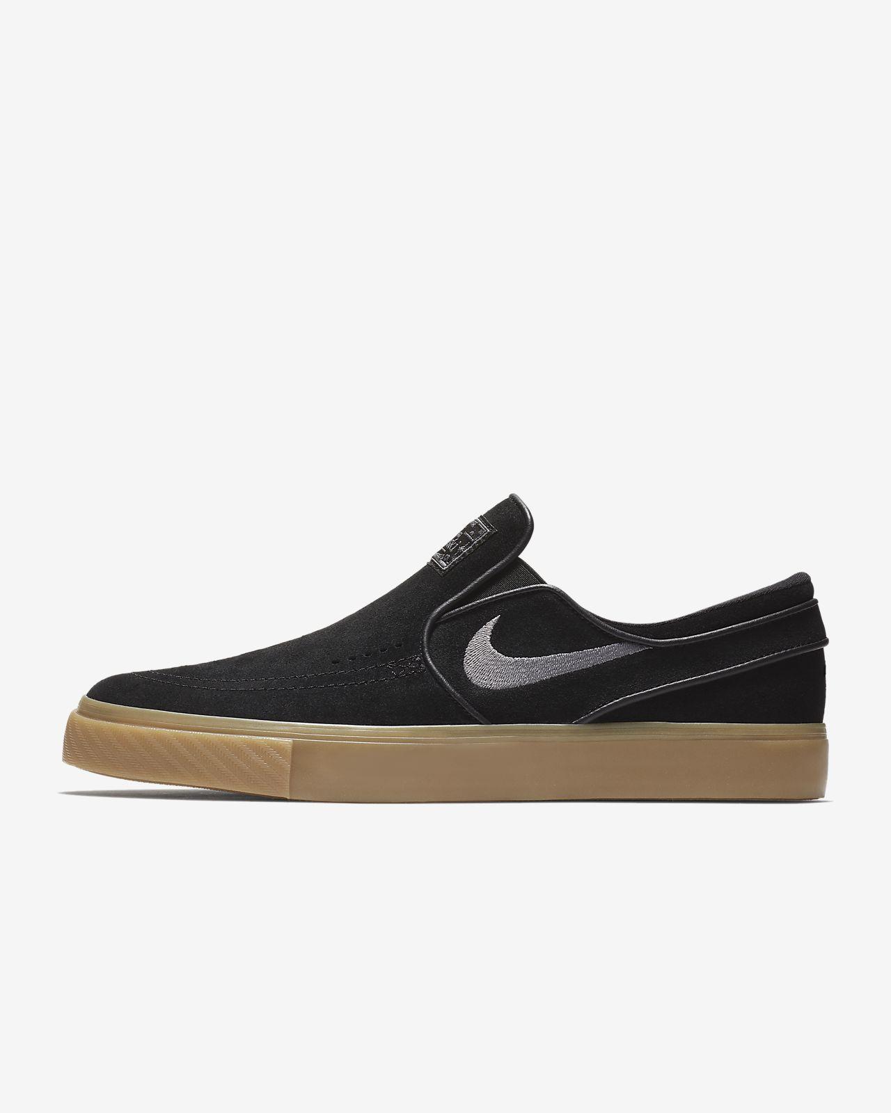 Nike - Baskets SB Zoom Stefan Janoski Slip Skateboarding - 833564 Noir - Chaussures Slips on Homme