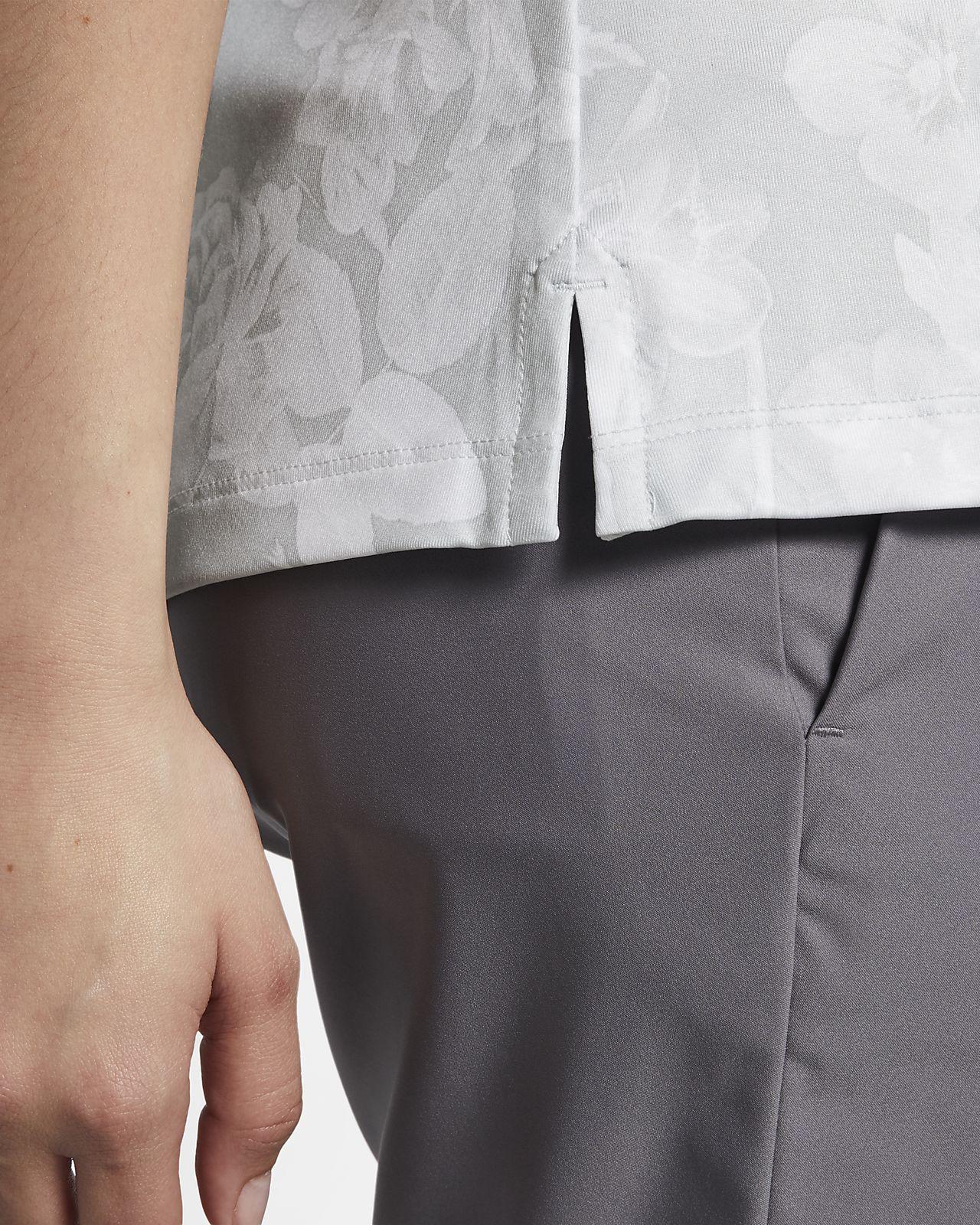 a93655e1e615 Γυναικεία εμπριμέ μπλούζα πόλο για γκολφ Nike Dri-FIT UV. Nike.com GR