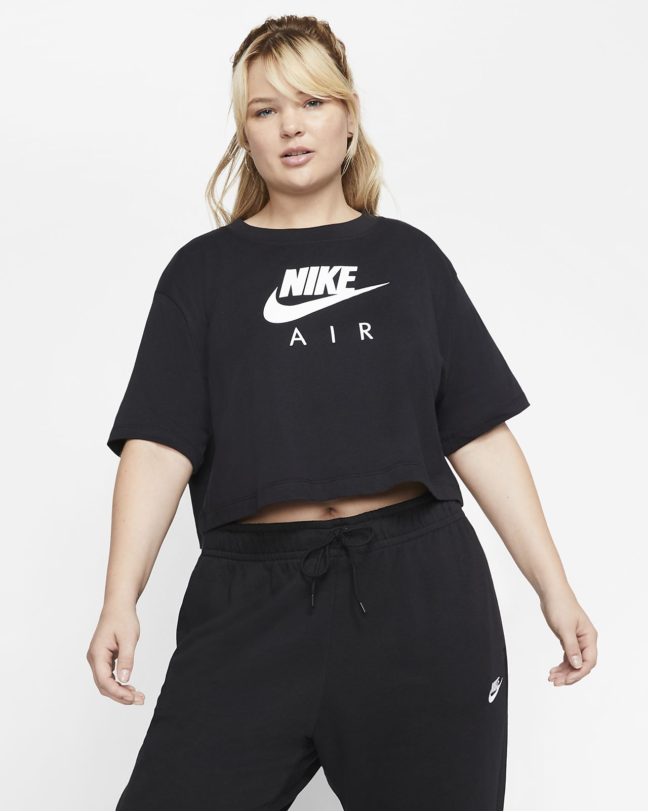 Nike Air kortermet overdel til dame (store størrelser)