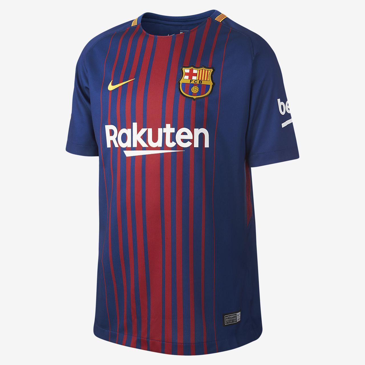 2f58b97183f 2017 18 FC Barcelona Home (Andrés Iniesta) Older Kids