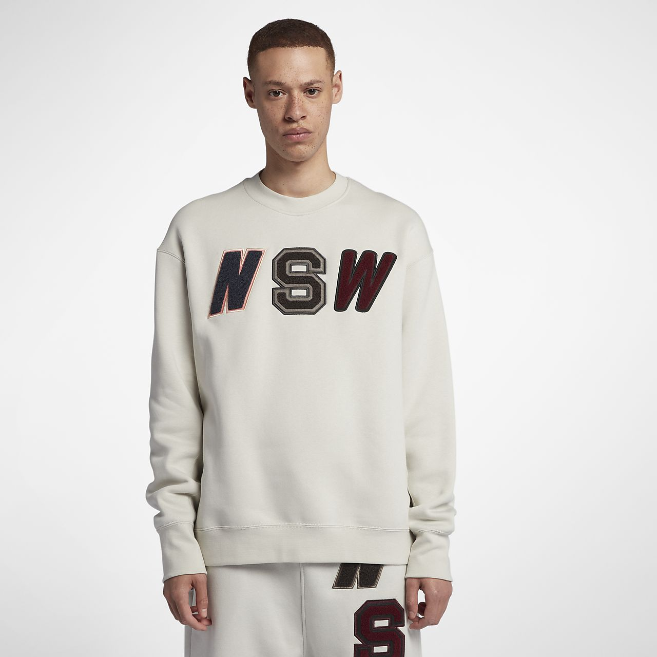 Nike Sportswear NSW-crewtrøje i fleece med løs pasform til mænd