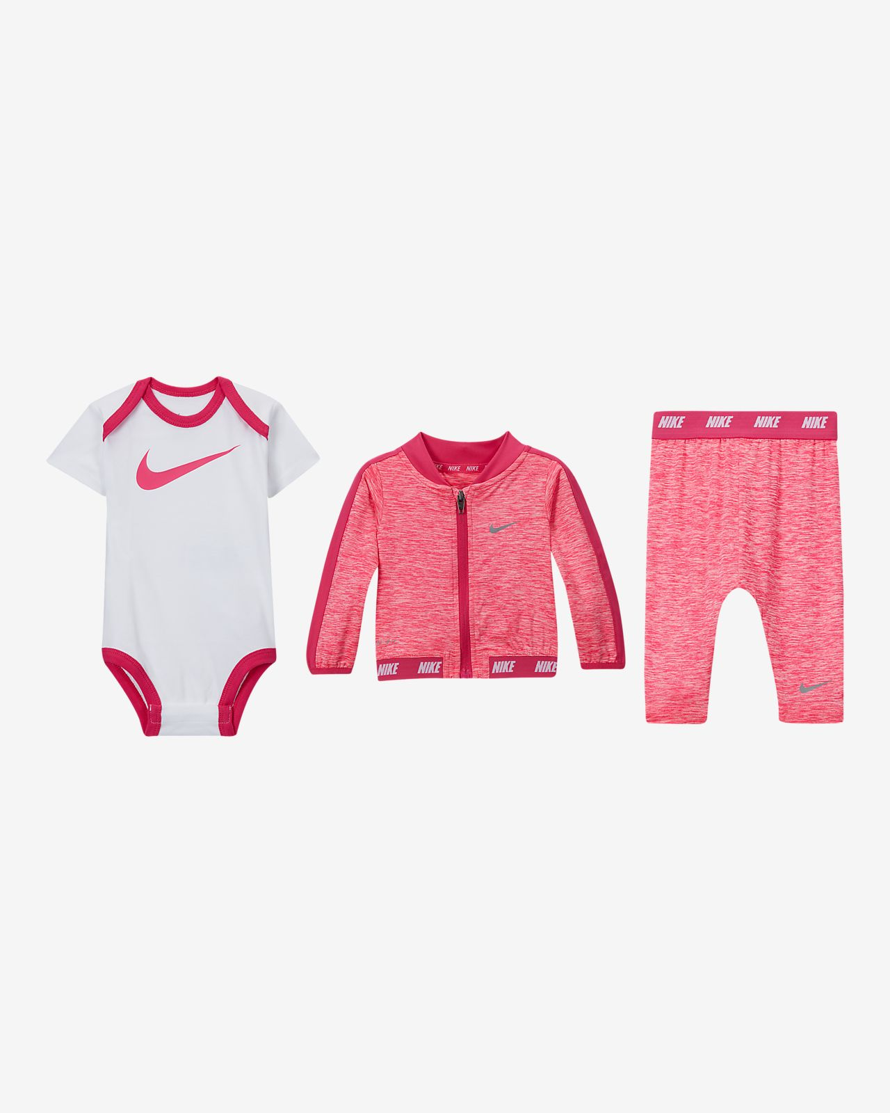 Nike Sport Essentials Baby (0-6M) Bodysuit, Jacket and Pants Set