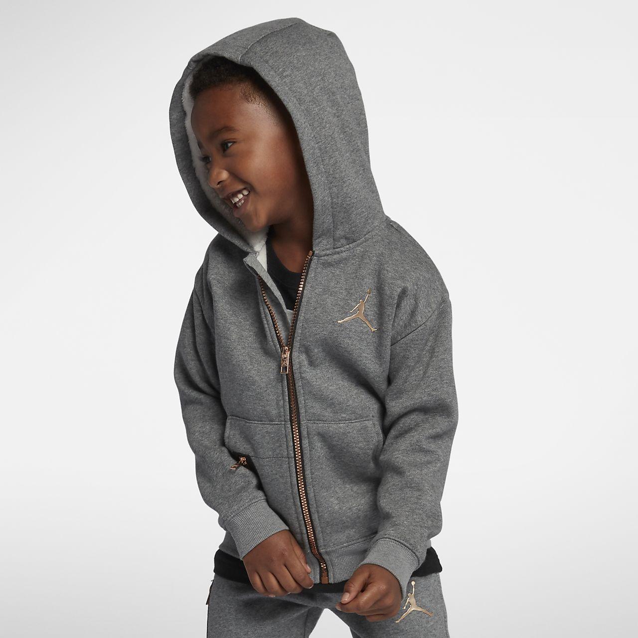 Jordan-hættetrøje med lynlås til små børn