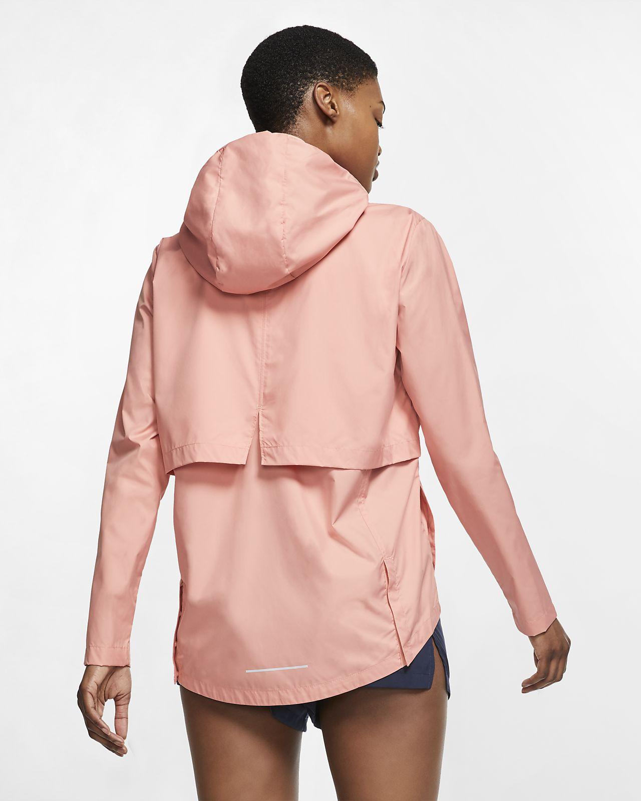 Nike Essential verstaubare Lauf Regenjacke für Damen
