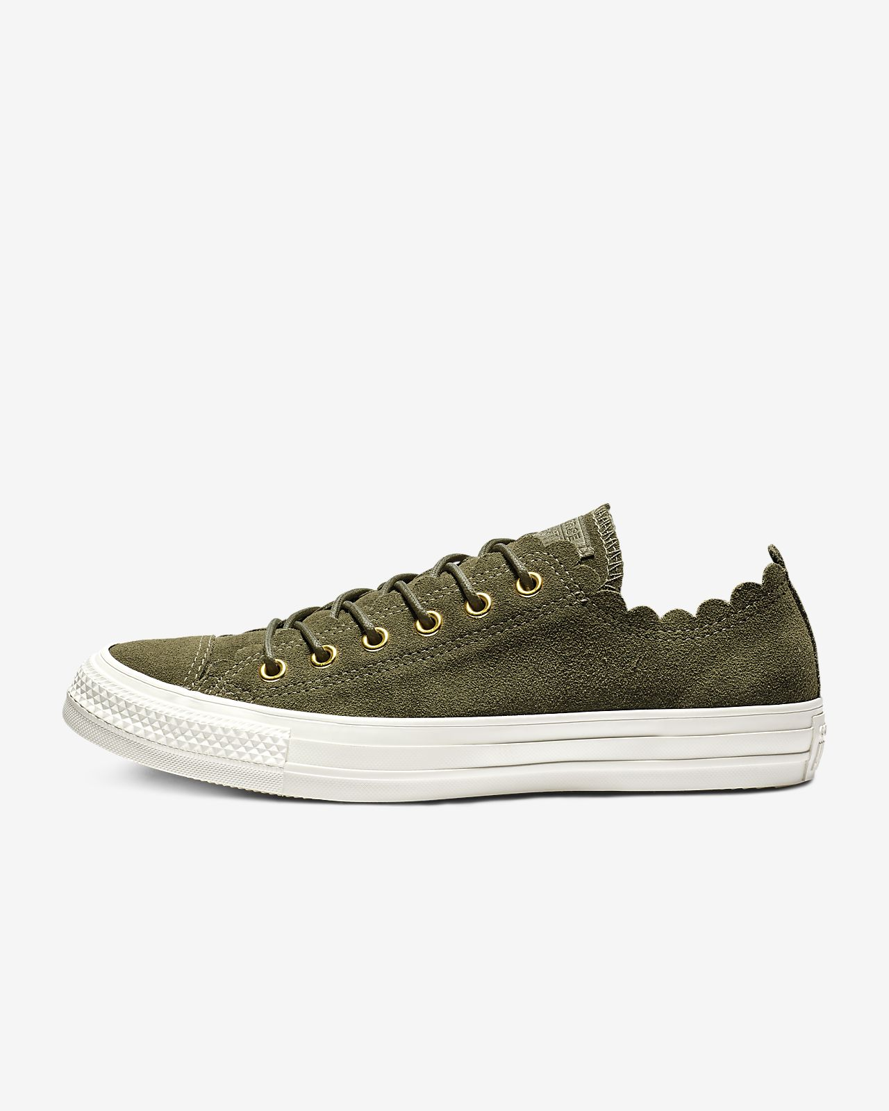 Chuck Taylor All Star Frilly Thrills Low Top Womens Shoe