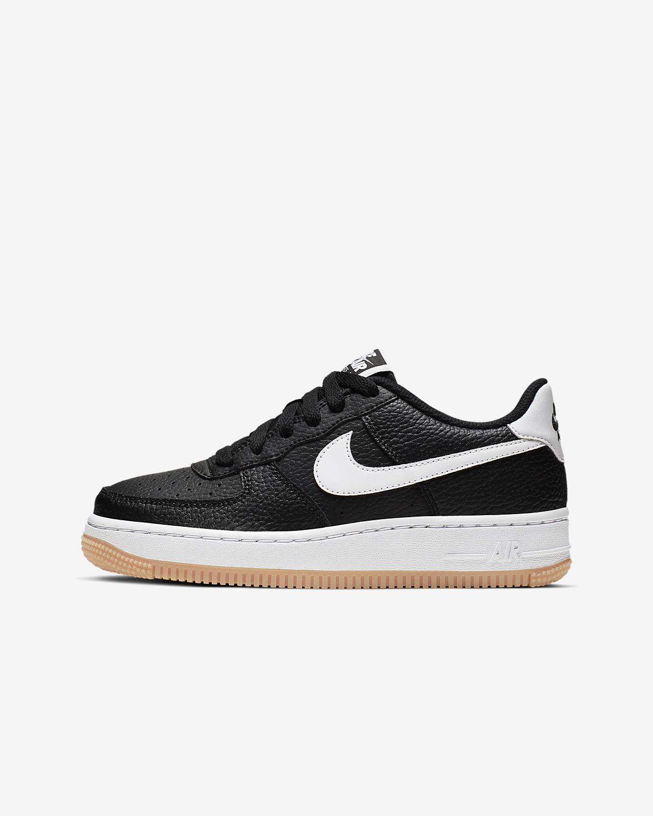 Nike Air Force Sportschuhe Basketball Schuh schwarz blau