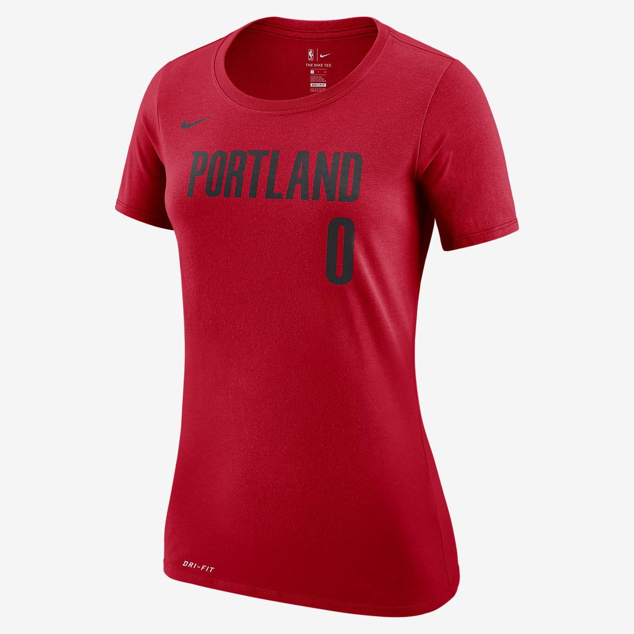 low priced 5d2fb e4b41 Damian Lillard Portland Trail Blazers Nike Dri-FIT Women's NBA T-Shirt