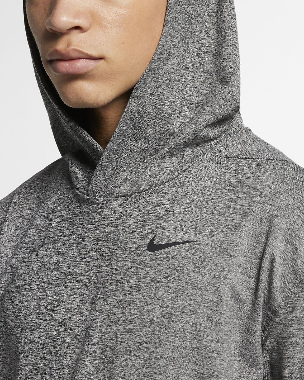 Nike Dri FIT langermet treningshettegenser for yoga til herre