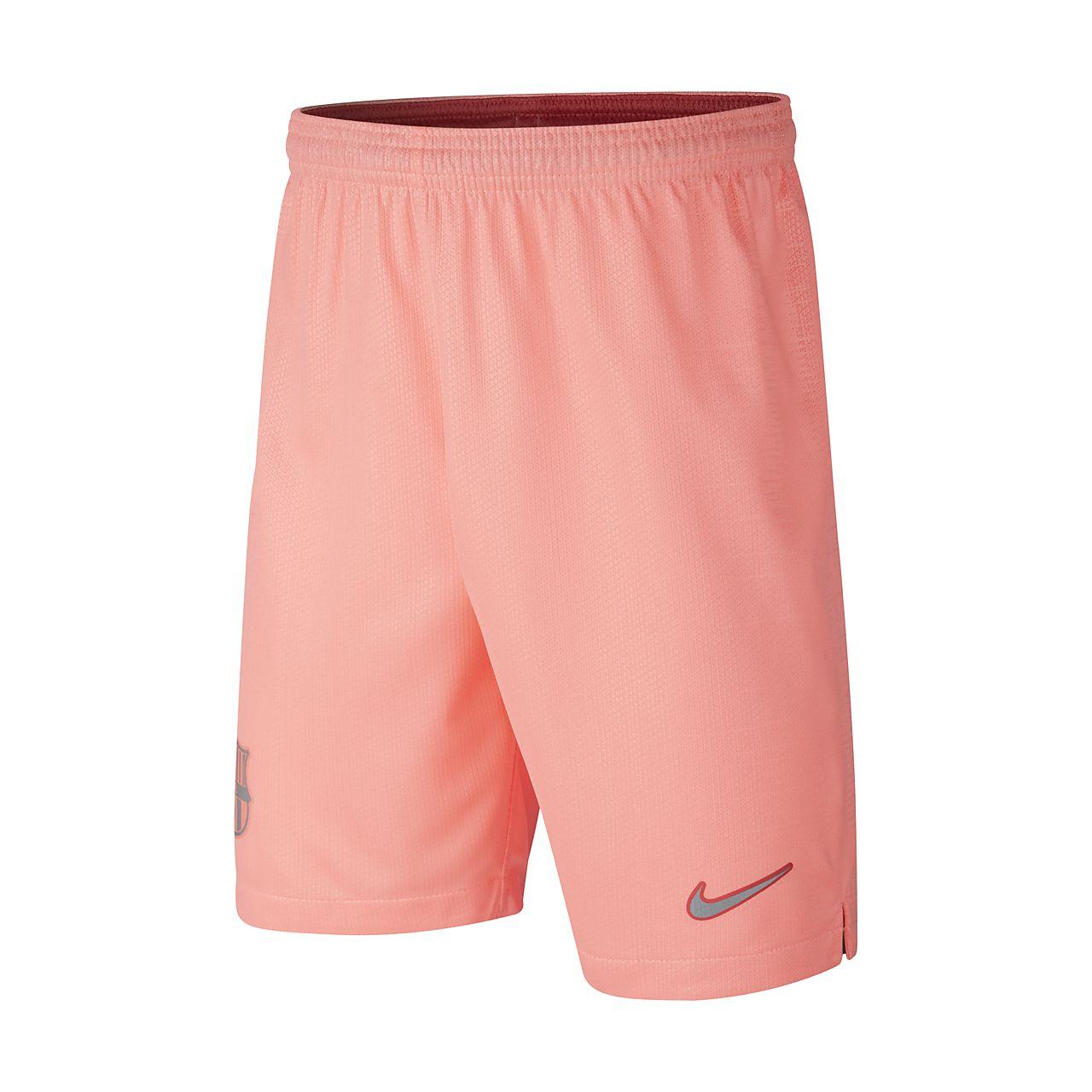 7e19b62080d ... Shorts de fútbol para niños talla grande 2018 19 FC Barcelona Stadium  Third
