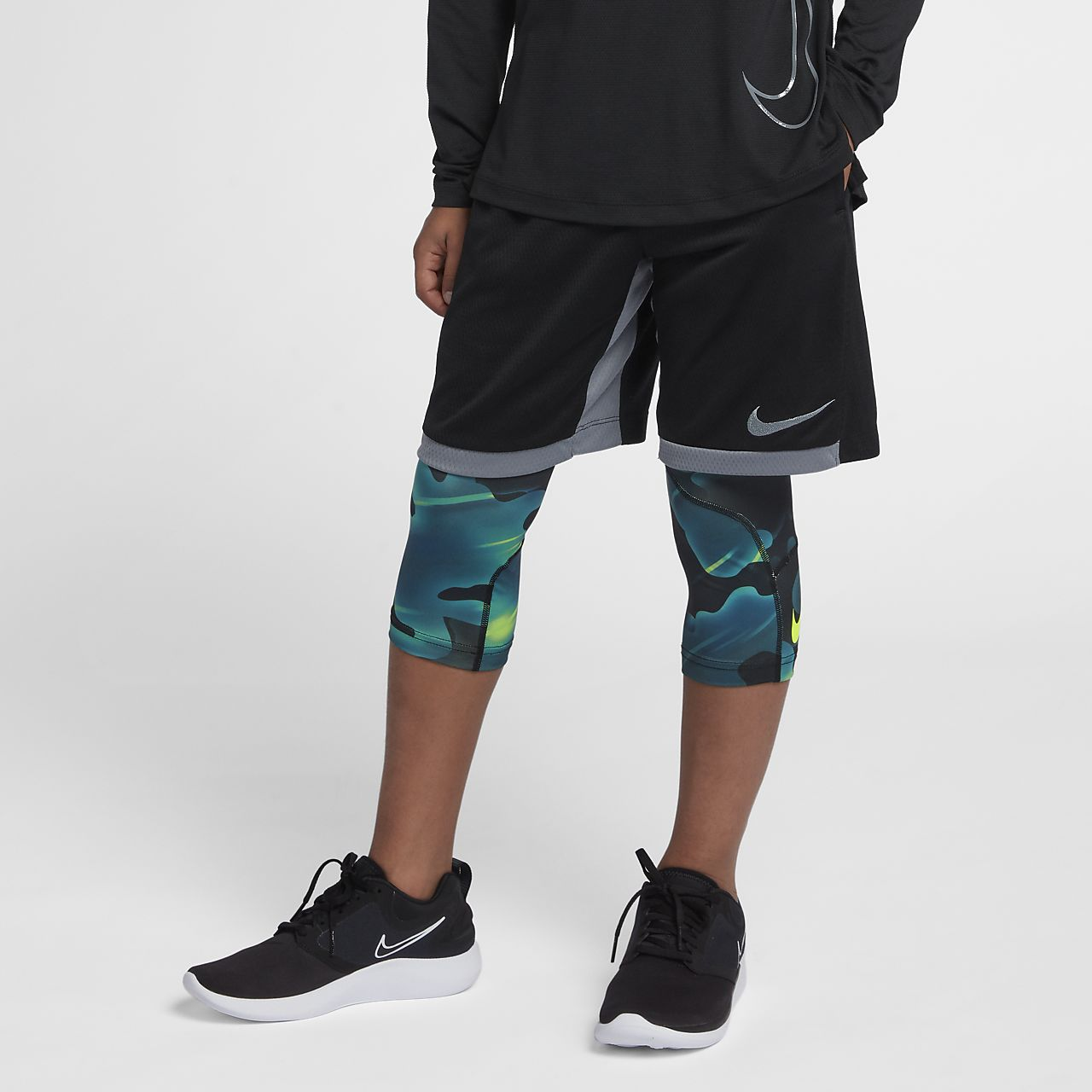 Nike Pro Big Kids' (Boys') 3/4 Printed Training Tights