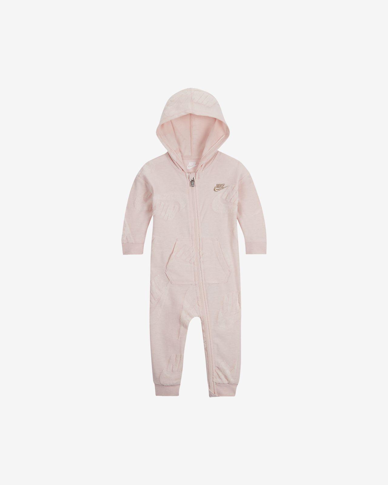 Nike Sportswear Baby (0–9M) Full-Zip Hooded Overalls