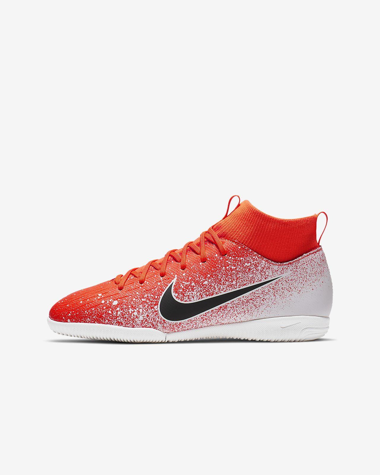 Fotbollssko för inomhusplan/futsal/street Nike Jr. SuperflyX 6 Academy IC för barn/ungdom