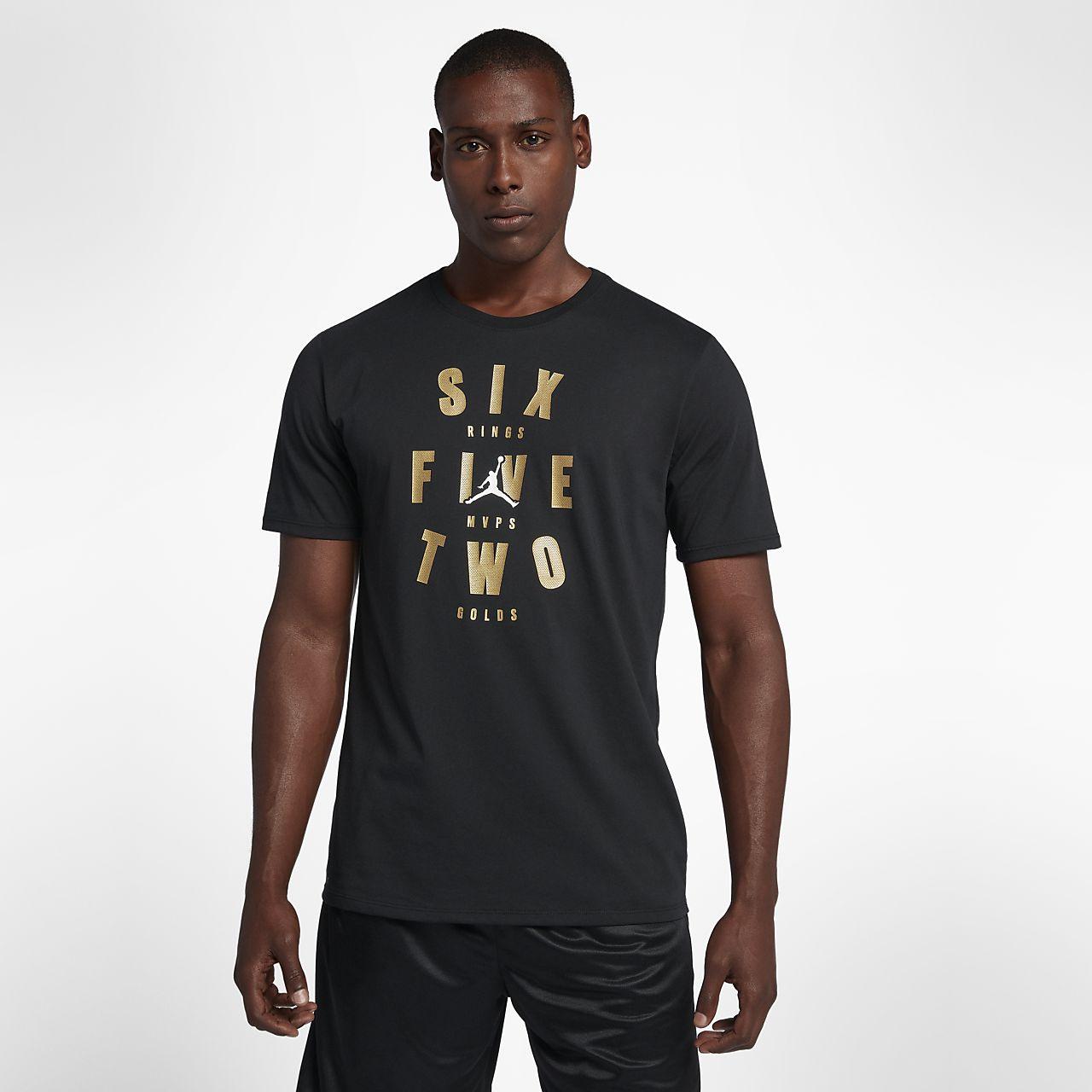 """เสื้อยืดบาสเก็ตบอลผู้ชาย Jordan """"Six Rings"""""""