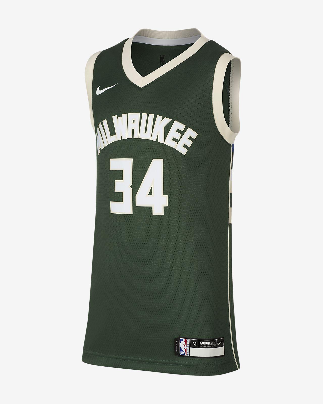 Koszulka dla dużych dzieci Nike NBA Icon Edition Swingman Jersey (Milwaukee Bucks)