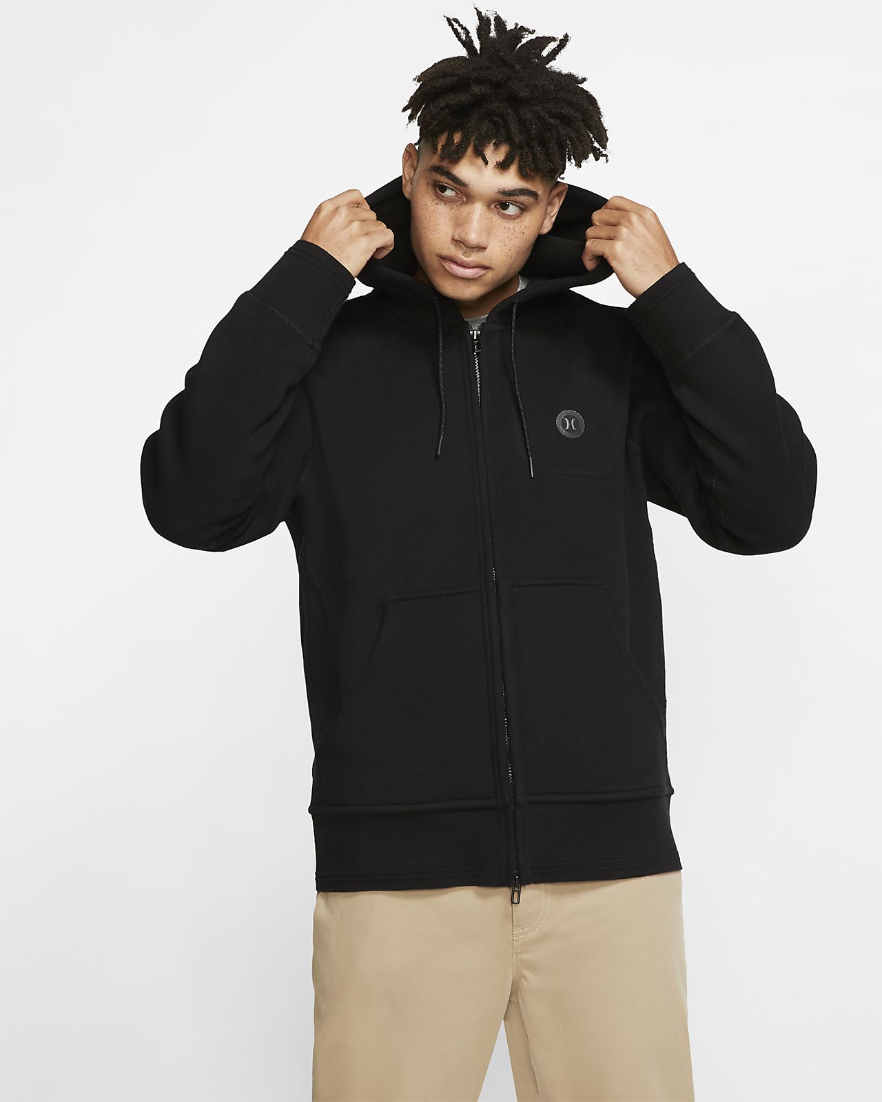 Sweat à capuche en tissu Fleece à zip Hurley Endure Therma pour Homme