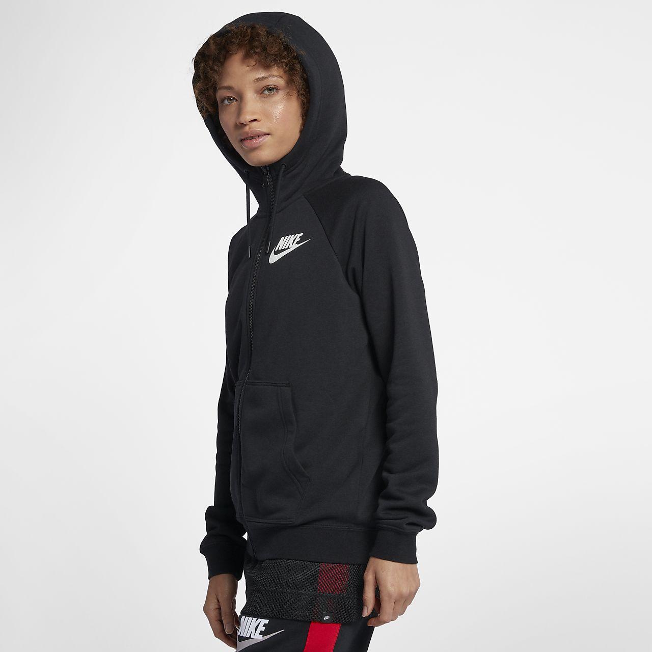 Sudadera Capucha Completo Sportswear Nike Con Rally Para Mujer De Cierre OkP80wn