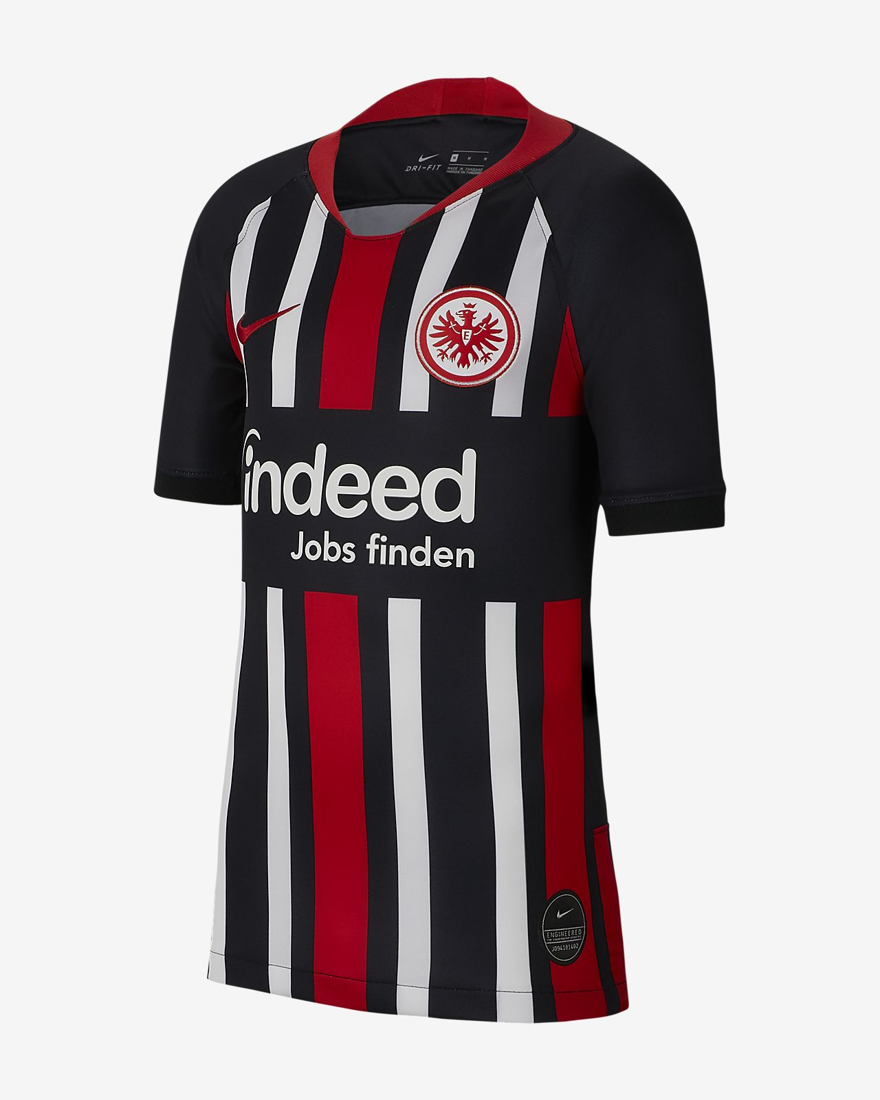 Eintracht Frankfurt 2019/20 Stadium Home Older Kids' Football Shirt