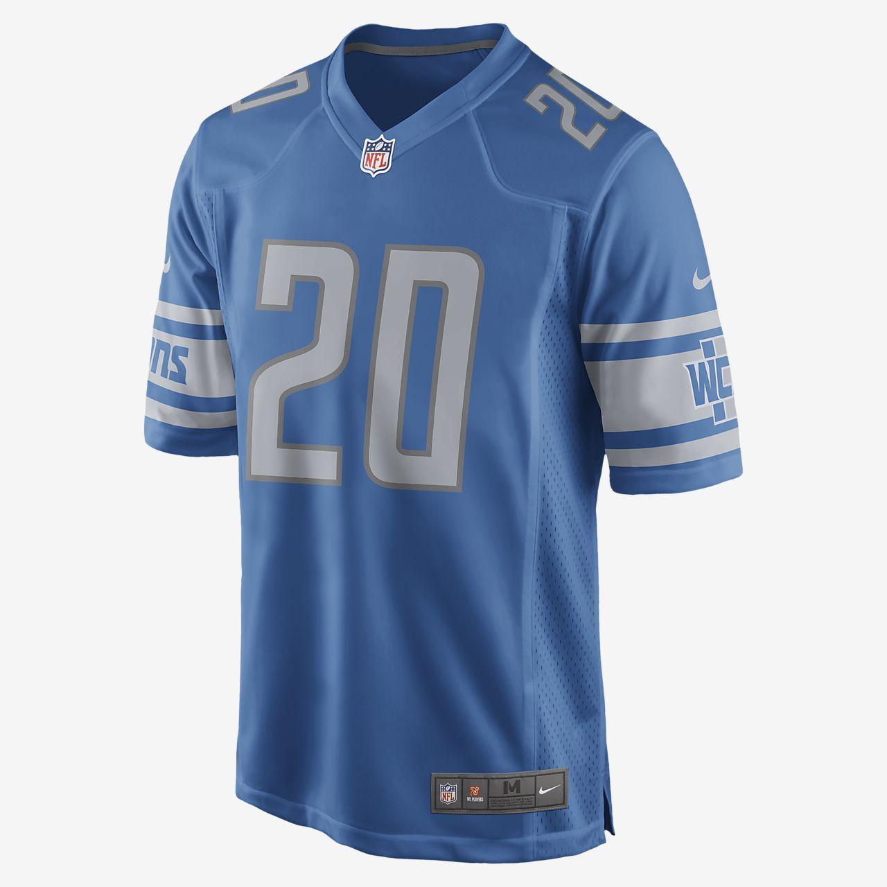NFL Detroit Lions (Barry Sanders) Men's Football Game Jersey