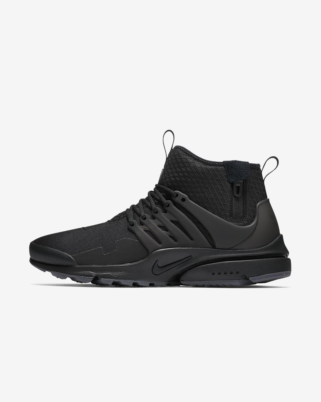 Nike Air Presto Mid Utility Noir Noir - Livraison Gratuite avec - Chaussures Basket Homme