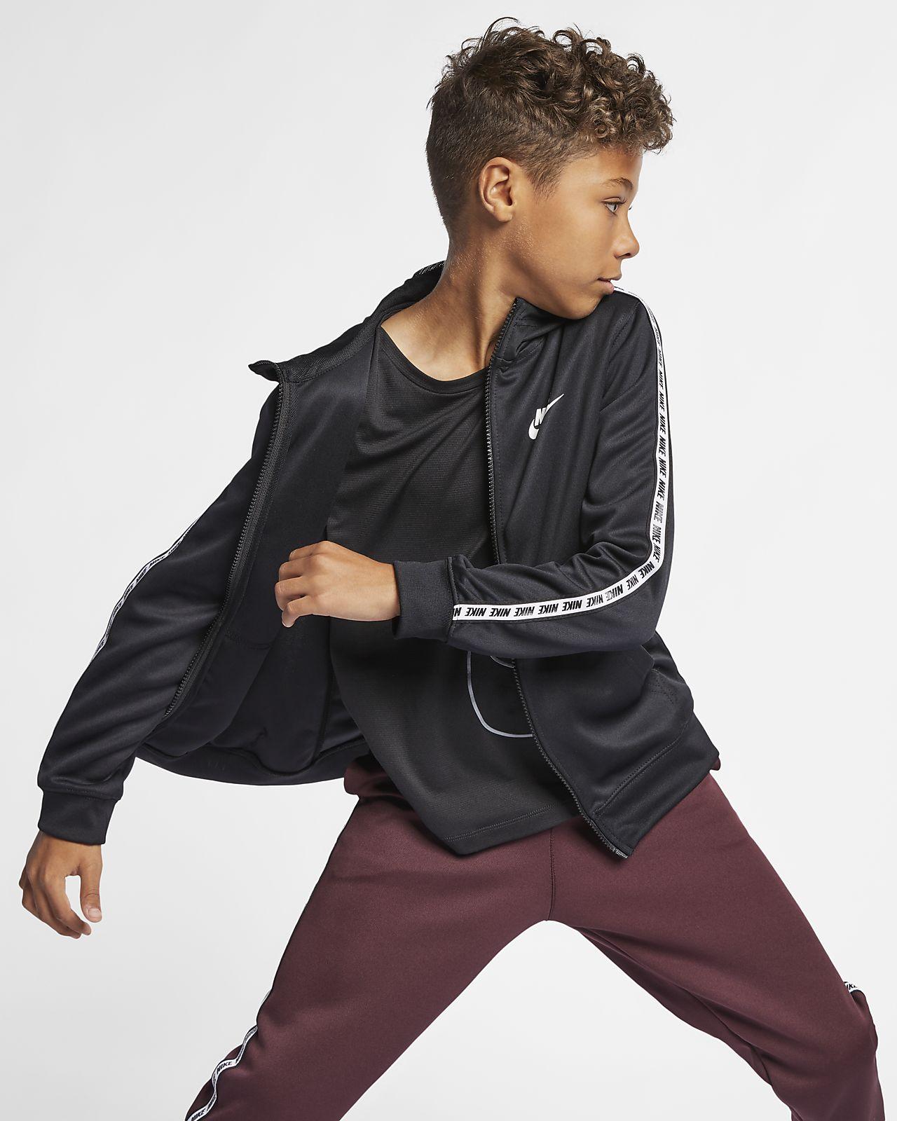 Nike Sportswear-hættetrøje med lynlås til store børn (drenge)