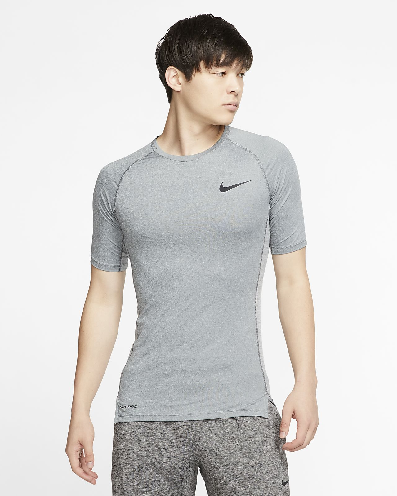 Ανδρική κοντομάνικη μπλούζα με στενή εφαρμογή Nike Pro