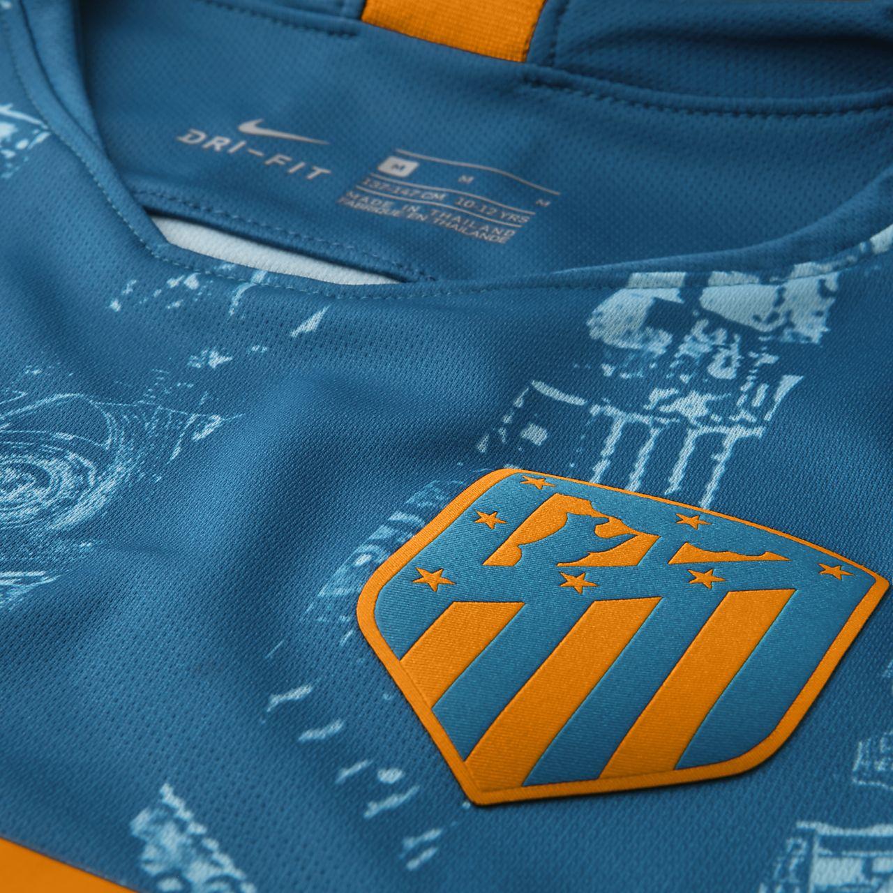 67673329dfd63 ... Camiseta de fútbol para niños talla grande alternativa Stadium del  Atlético de Madrid 2018 19