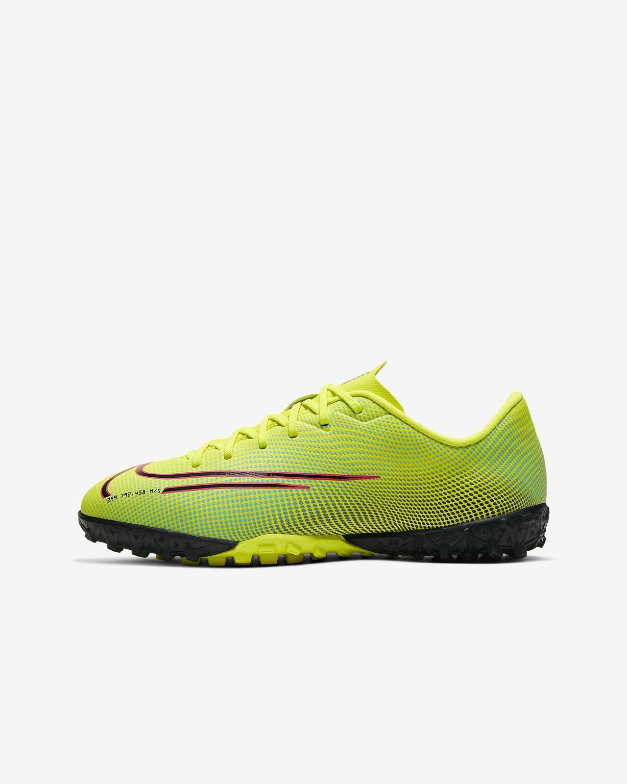 Nike Jr. Mercurial Vapor 13 Academy MDS TF műgyepre készült futballcipő kisebbnagyobb gyerekeknek